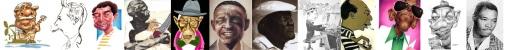 Os 12 apóstolos: Dorival Caymmi, Noel Rosa, João Nogueira, Nelson Cavaquinho, Jamelão, Ataulfo Alves, Argemiro Patrocínio, Sinhô, Zé Kéti, Cartola, Adoniran Barbosa e Geraldo Pereira.