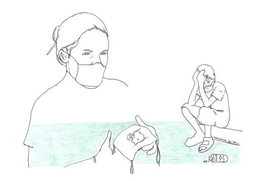 """No começo, apenas a máscara era suficiente. Com o tempo, a medida adotada foi a de bezuntar o tecido na máscara com álcool gel. """"Prevenção nunca é demais"""", afirma o diretor da escola Aprender para Vencer"""
